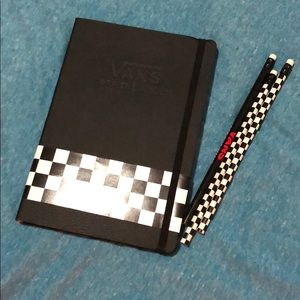 Vans notebook and three vans pencils